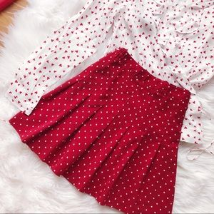 {vintage} polka dot tennis skirt